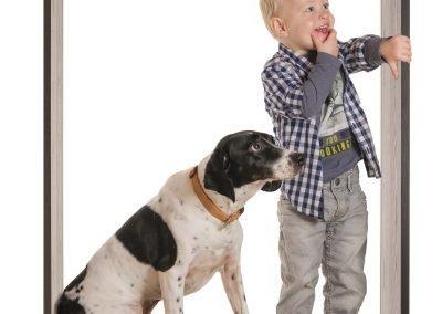 Cube met Hond